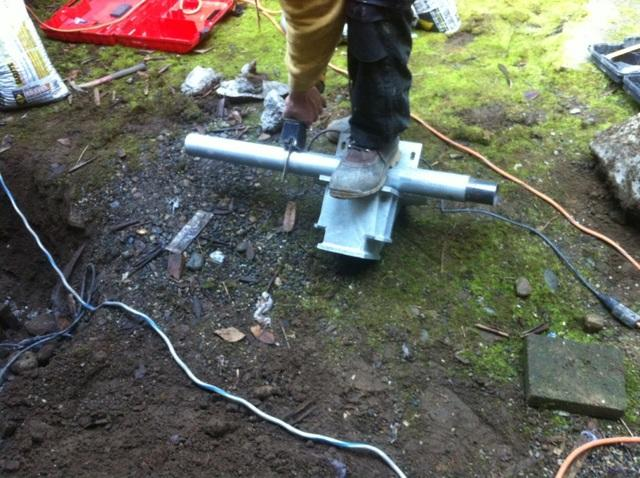 This is what one of our piers look like before they are installed in the ground.