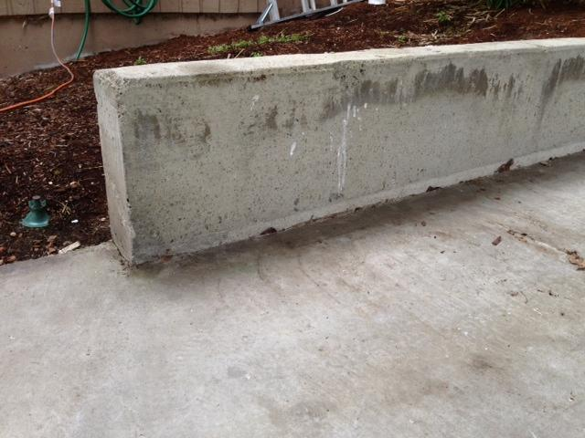 Another angle of the sinking concrete.