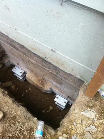 Stabilizing the foundation.