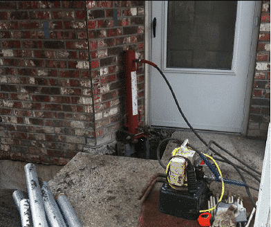 Another tool we used to help stabilize the foundation.
