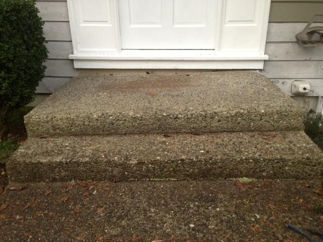 This is another image of the stairs showing how uneven they were.