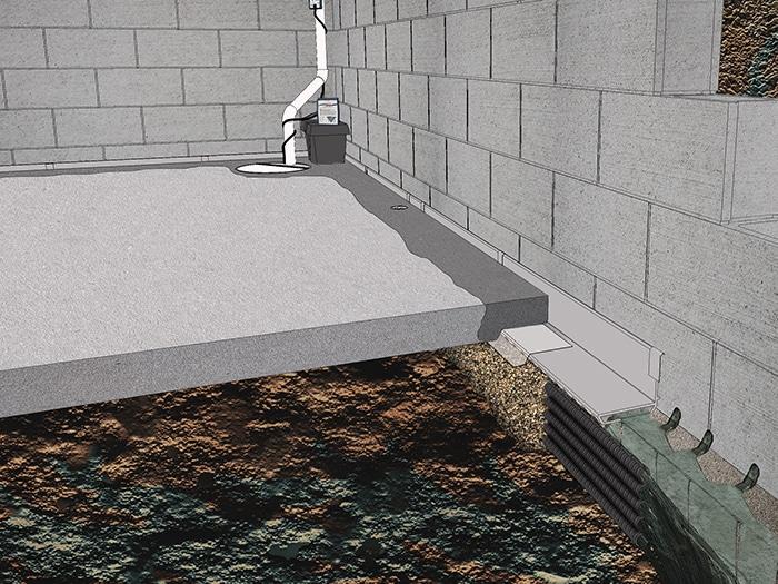 sump drain diagram