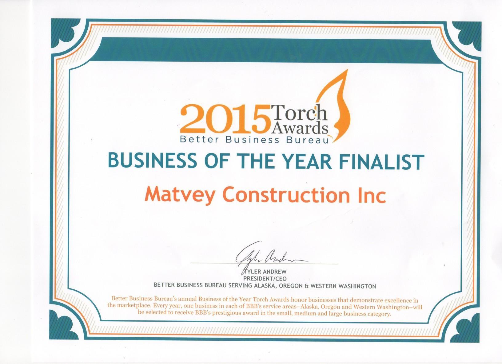 2015 torch award