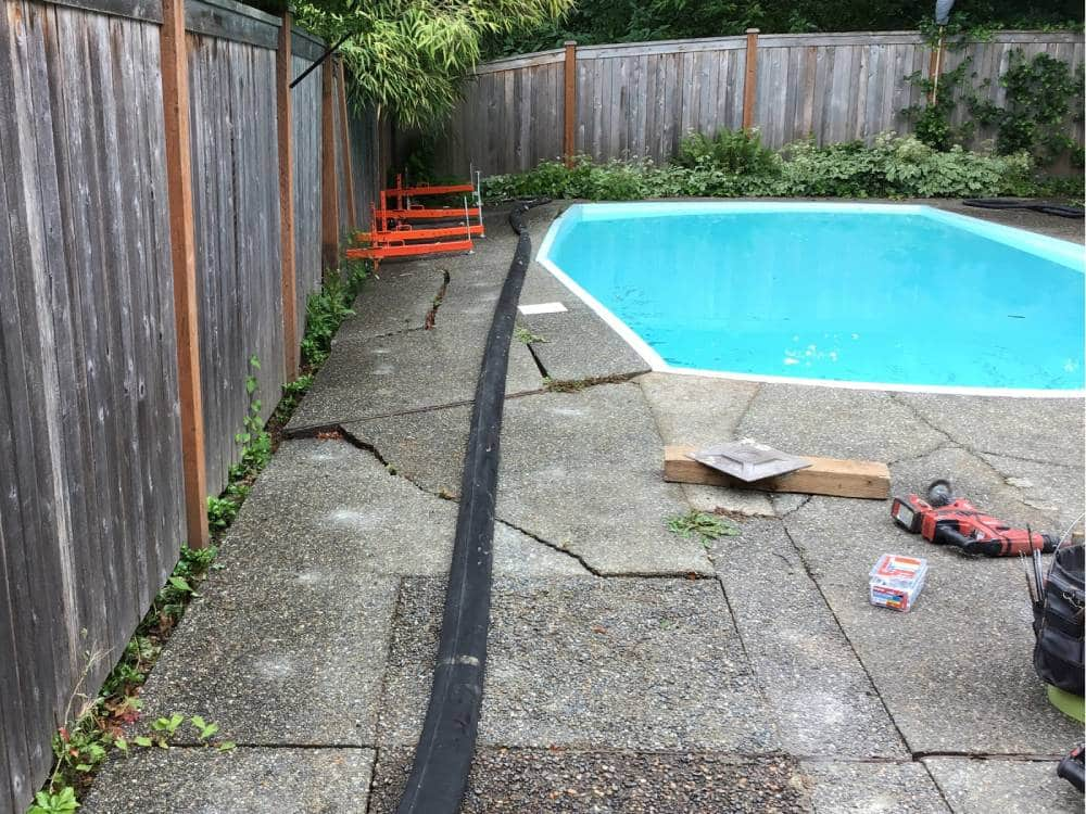 pool deck poly-level before