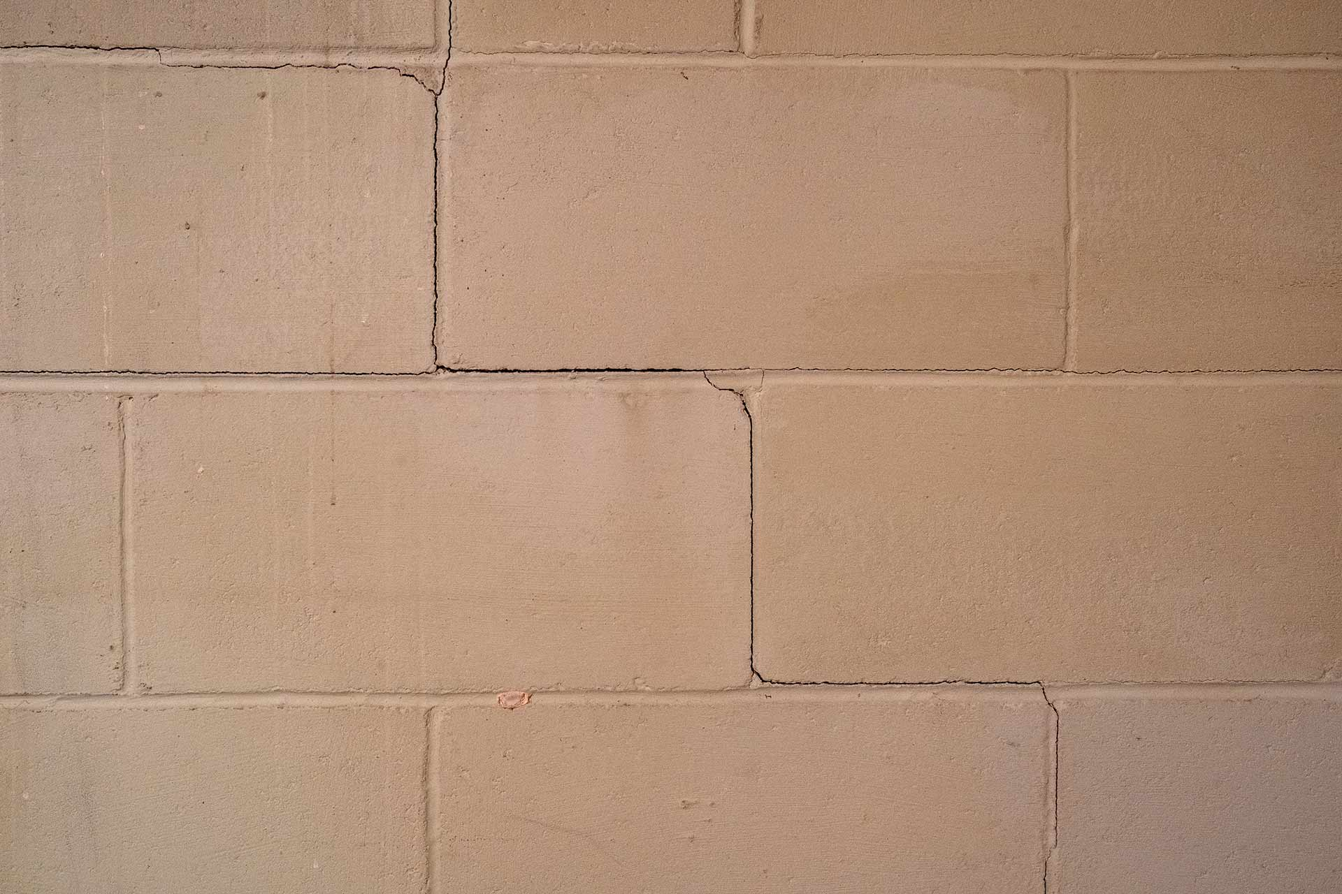 crawl space cracked wall