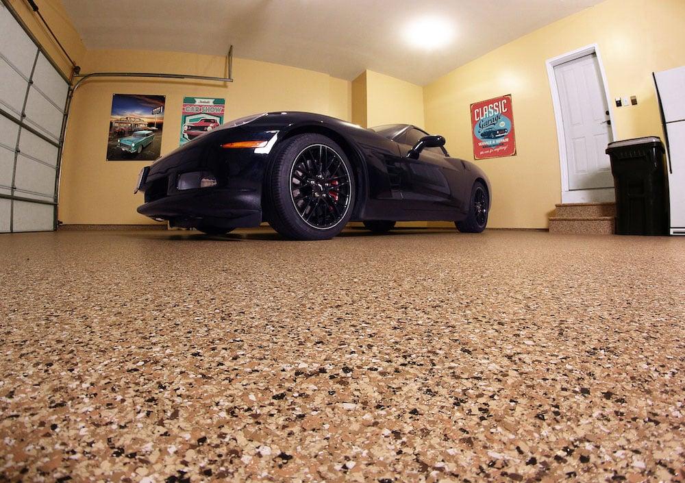 Chip flooring in garage