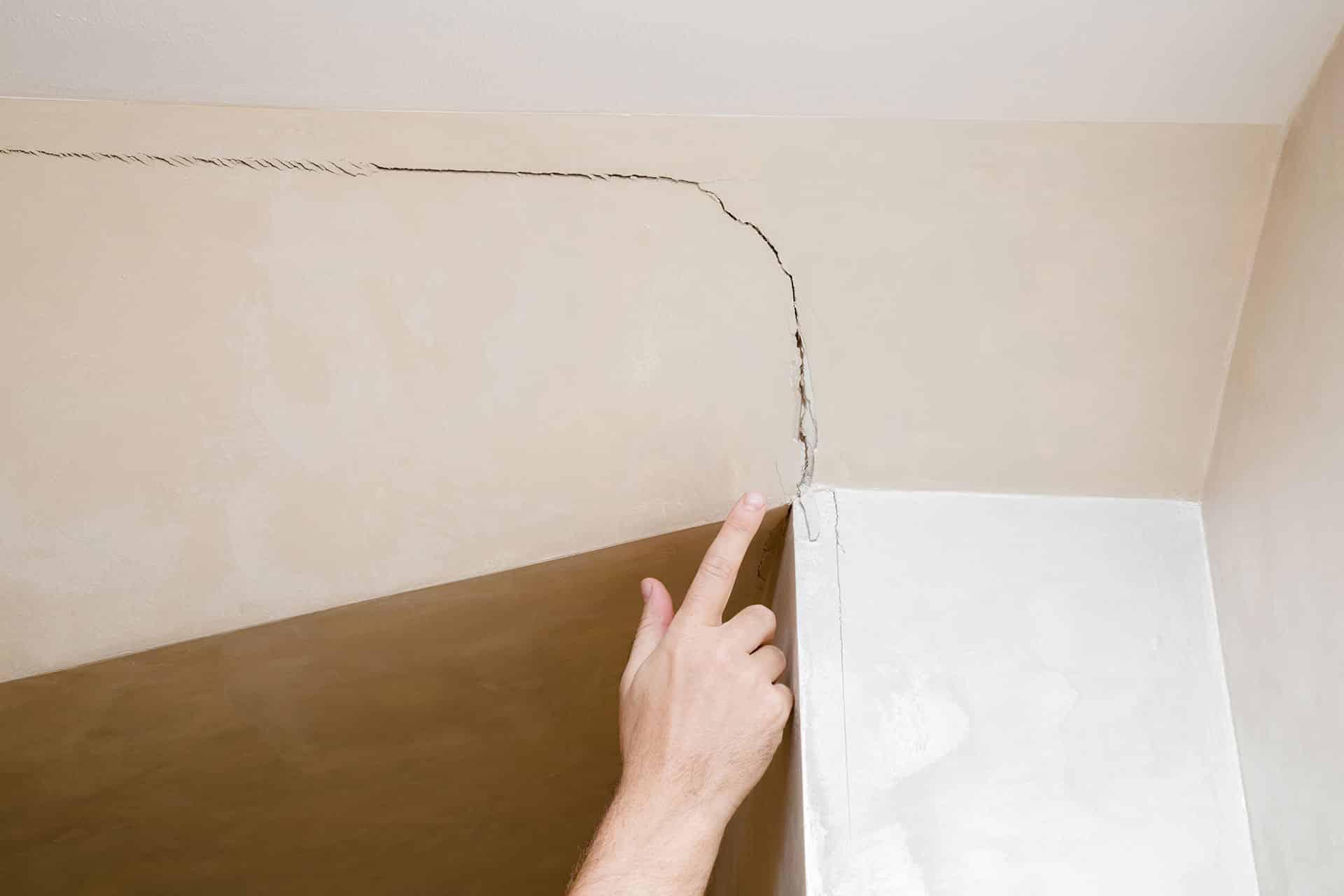 Interior ceiling cracking foundation repair