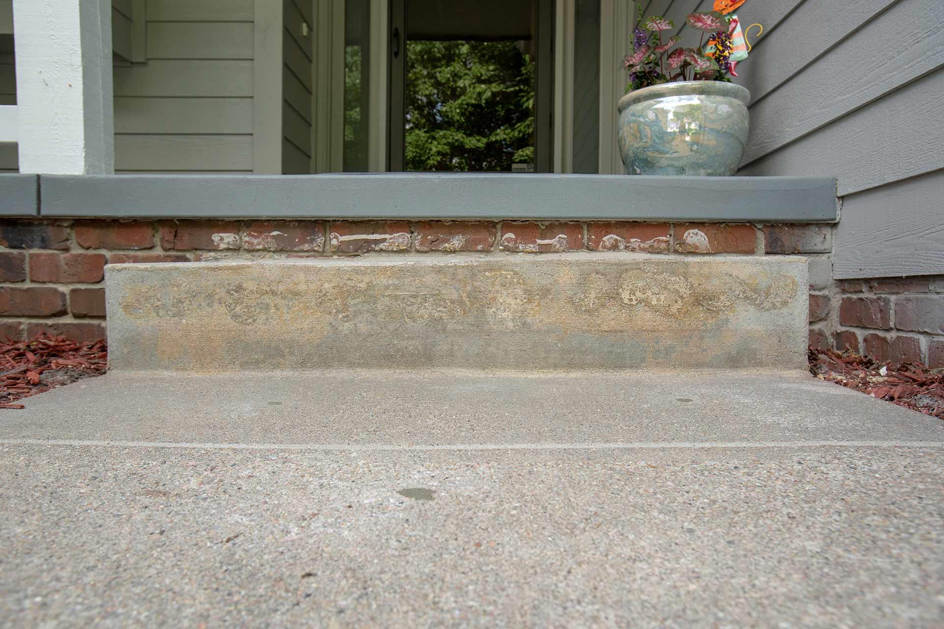 leveled concrete steps