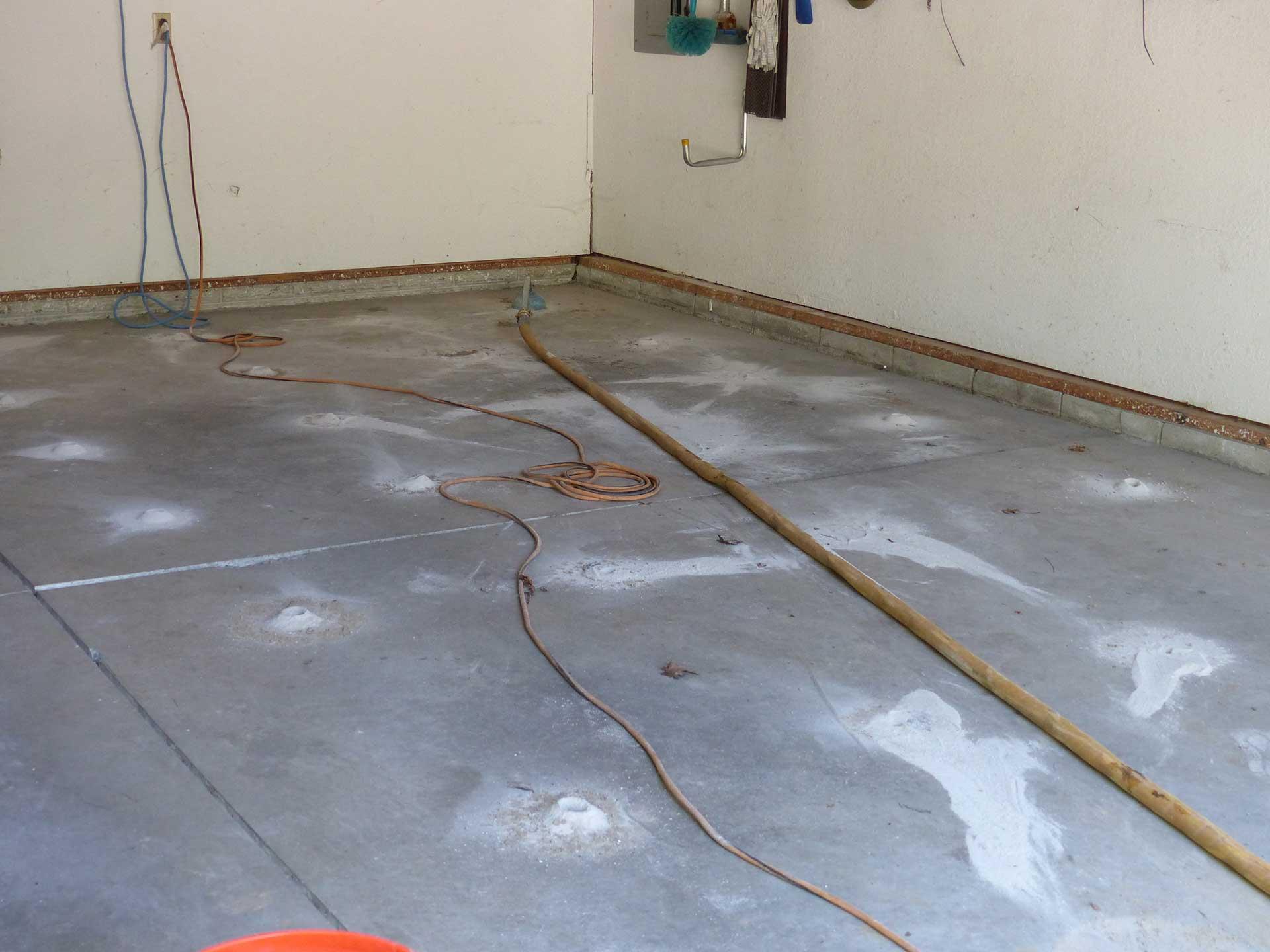 raising concrete garage slab