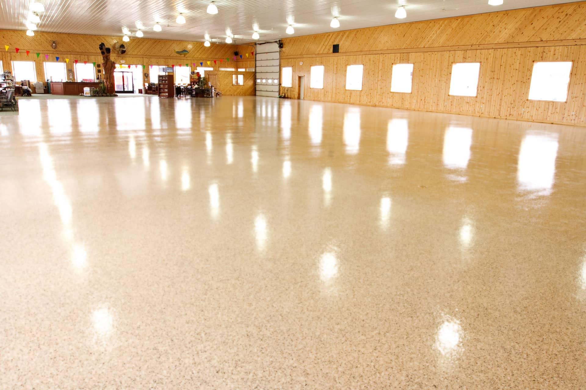 flooring coating inside showroom